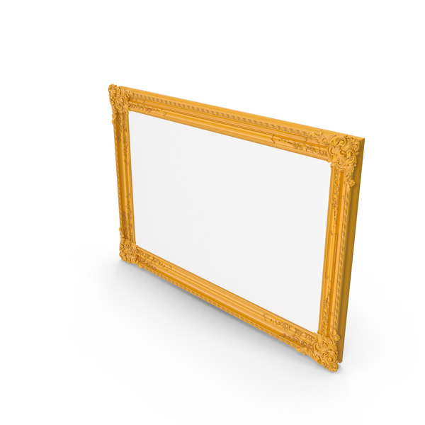 Orange Baroque Picture Frame PNG & PSD Images