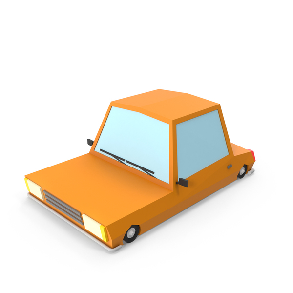 Orange Cartoon Car PNG & PSD Images