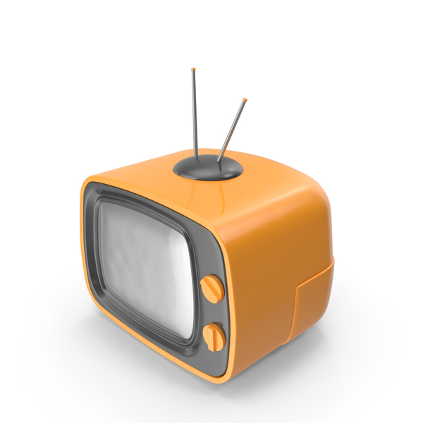 Crt: Orange Cartoon Television PNG & PSD Images