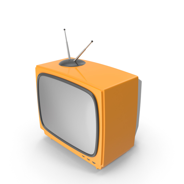 Orange Cartoon Television PNG & PSD Images