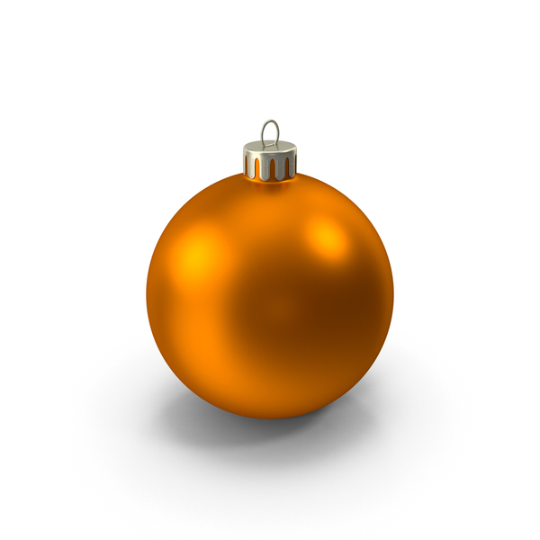 Orange Christmas Ornament PNG & PSD Images