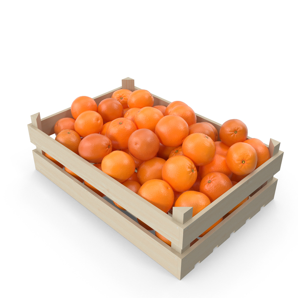 Fruit: Orange Crate PNG & PSD Images