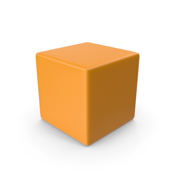 Orange Cube PNG & PSD Images