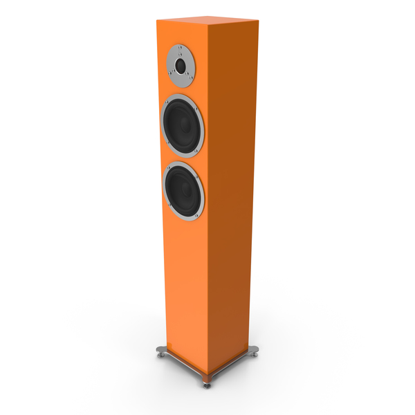 Orange Floor Speaker PNG & PSD Images