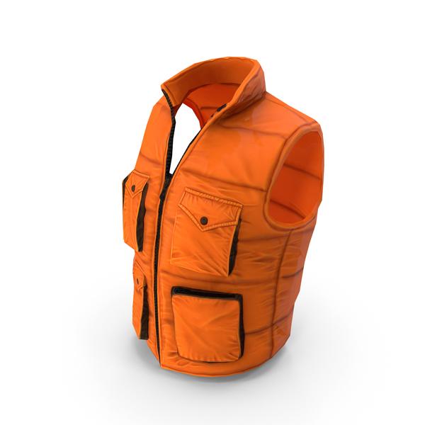 Waistcoat: Orange Freestyle Gilet PNG & PSD Images