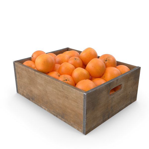 Orange Fruit Crate PNG & PSD Images