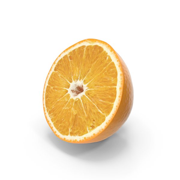 Orange Half Cut PNG & PSD Images