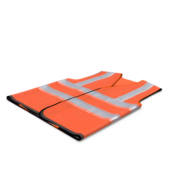 Orange Hi Vis Safety Vest PNG & PSD Images