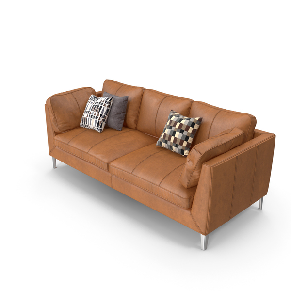 Orange Leather Sofa PNG & PSD Images