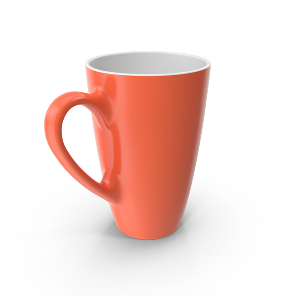 Coffee Cup: Orange Mug PNG & PSD Images