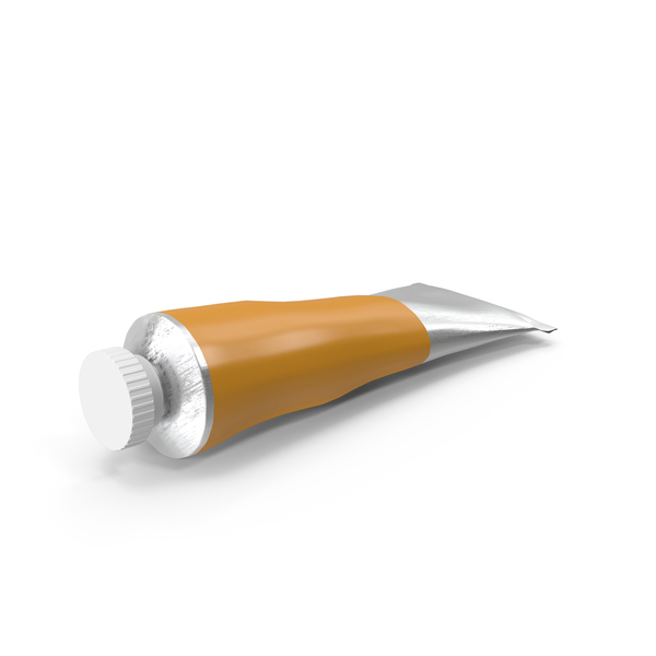 Orange Oil Paint Tube PNG & PSD Images