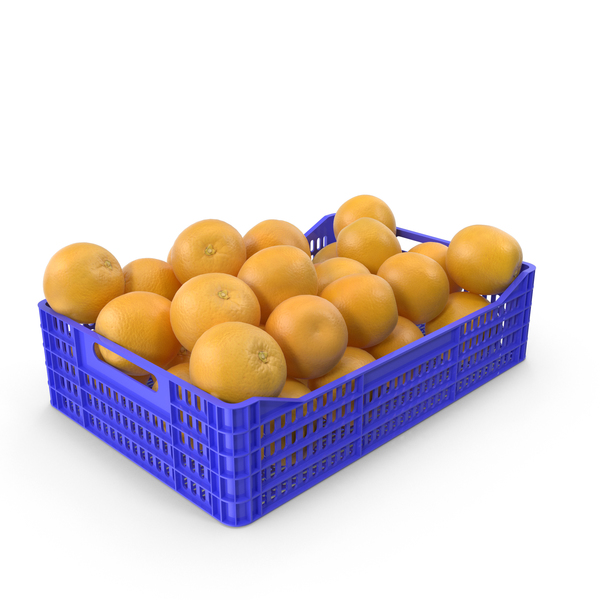 Fruit: Orange Plastic Crate PNG & PSD Images
