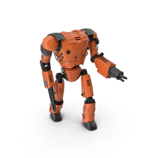 Orange Robot PNG & PSD Images