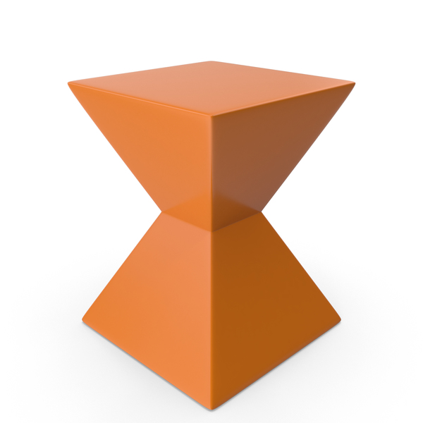 Orange Rocco End Table PNG & PSD Images