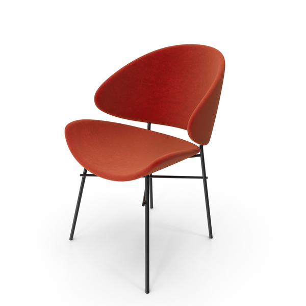 Orange Side Chair PNG & PSD Images