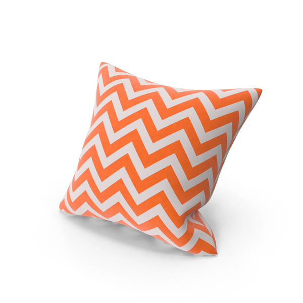 Orange Stripe Throw Pillow Object