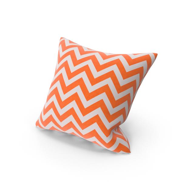 Orange Stripe Throw Pillow PNG & PSD Images