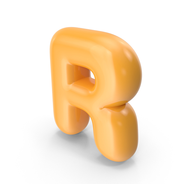 Language: Orange Toon Balloon Letter R PNG & PSD Images