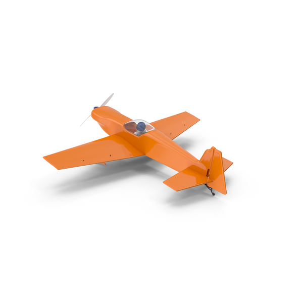 Orange Toy Sport Plane PNG & PSD Images