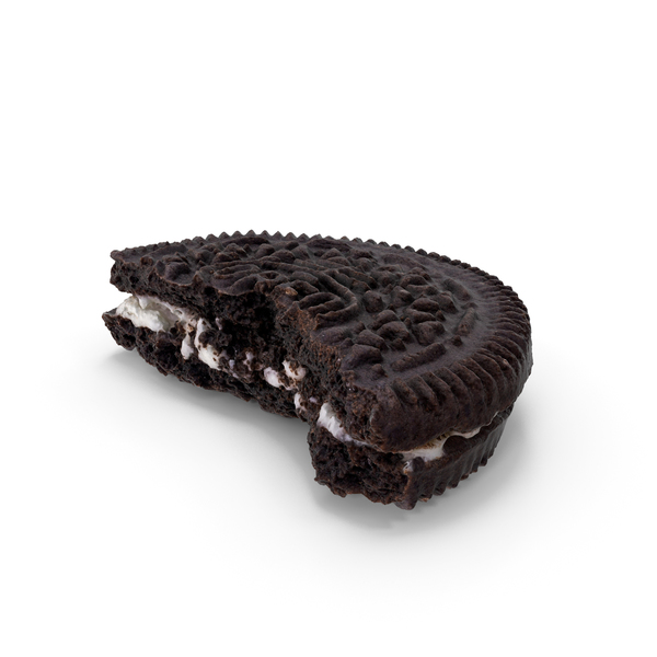 Oreo Cookie Bitten PNG & PSD Images