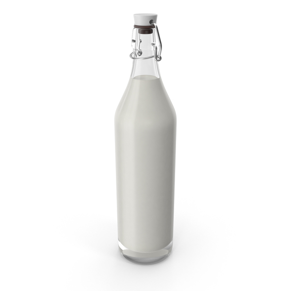 Organic Milk Bottle PNG & PSD Images
