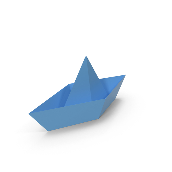 Origami Boat Blue PNG & PSD Images