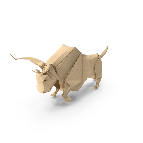 Origami Bull PNG & PSD Images