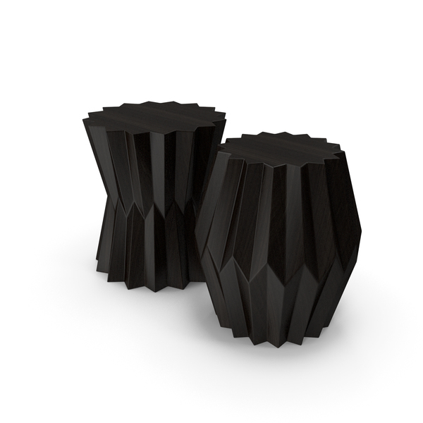 Origami Taboret Tables PNG & PSD Images