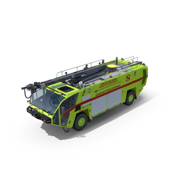 OshKosh Striker 4x4 Airport Firetruck PNG & PSD Images