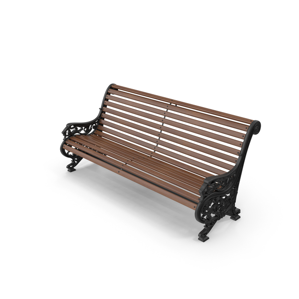 Outdoor Cast Iron Bench PNG & PSD Images