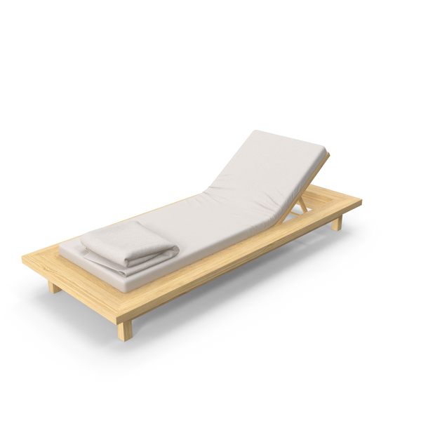 Chair: Outdoor Lounge with Towel PNG & PSD Images