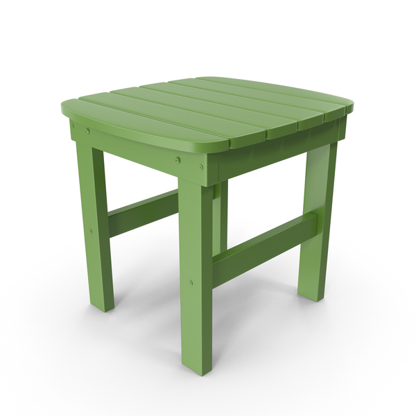 End: Outdoor Side Table Green PNG & PSD Images