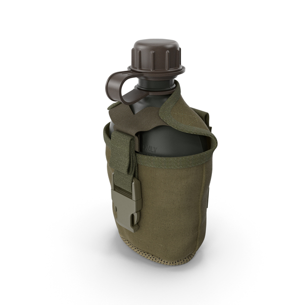 Outdoor Water Canteen Plastic Military PNG & PSD Images