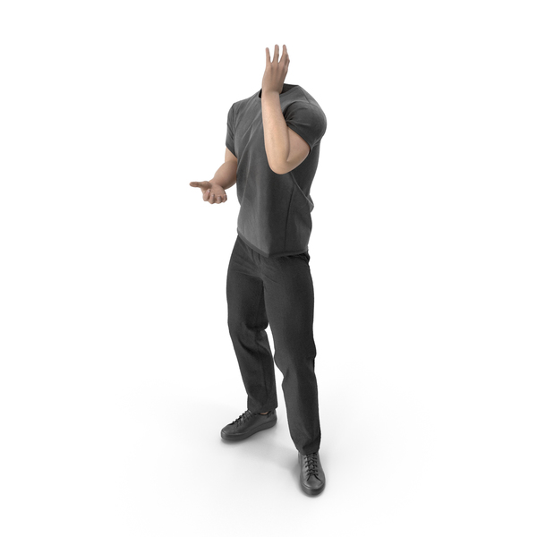 Clothing: Outfit Black Calling Pose PNG & PSD Images