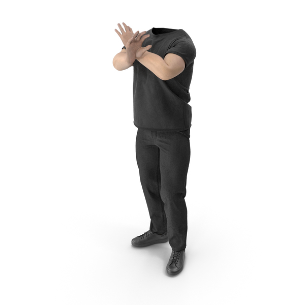 Man: Outfit Black PNG & PSD Images