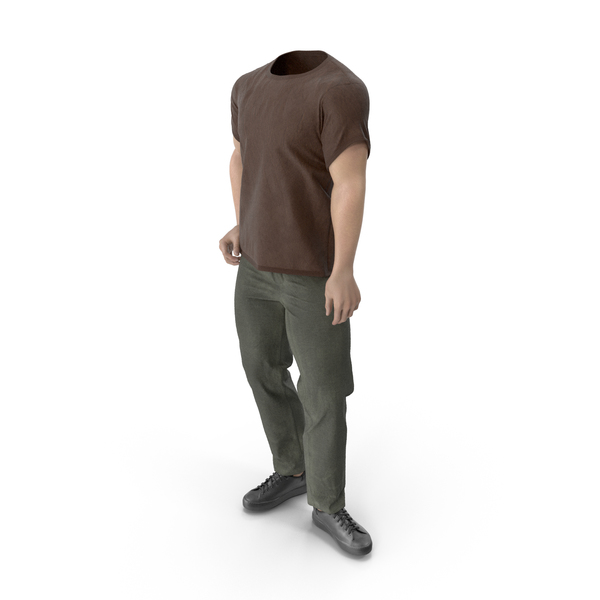 Man: Outfit Brown PNG & PSD Images