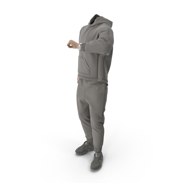 Man: Outfit Grey PNG & PSD Images