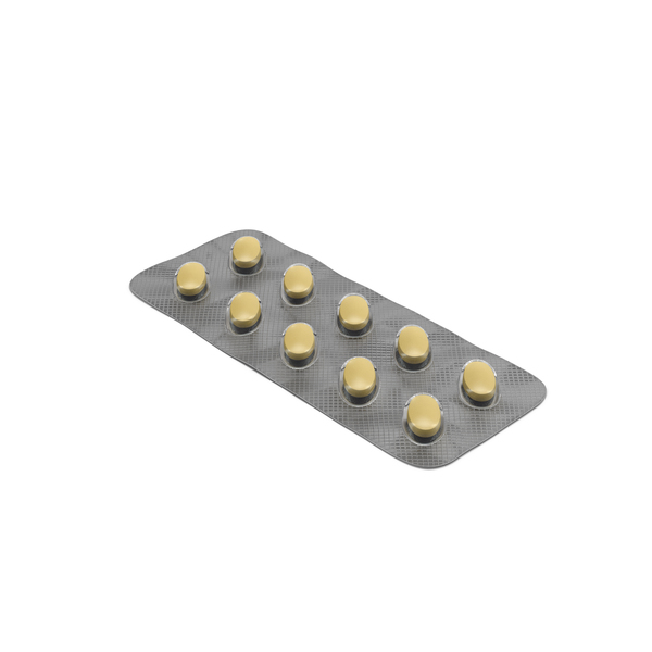 Packaged Medicine: Oval Blister Pill Pack PNG & PSD Images