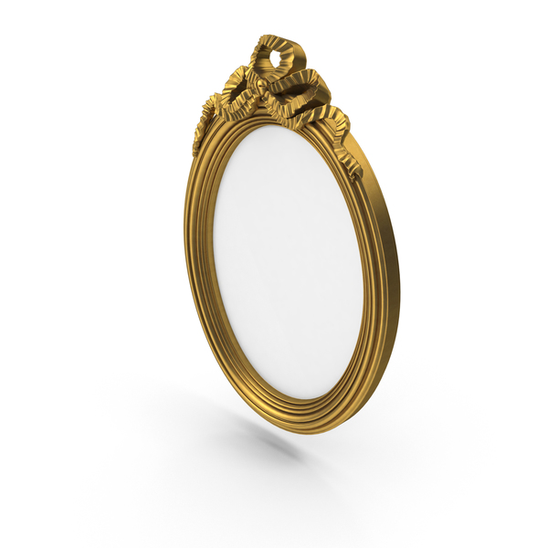 Oval Golden Baroque Picture Frame PNG & PSD Images
