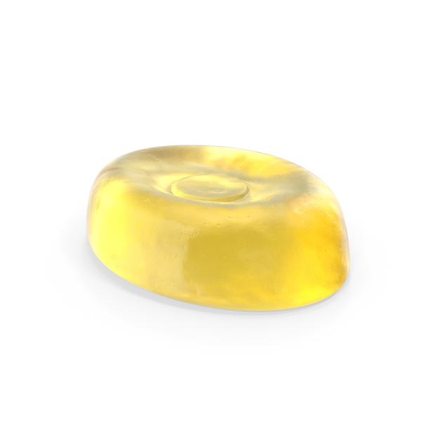 Oval Hard Candy Yellow PNG & PSD Images