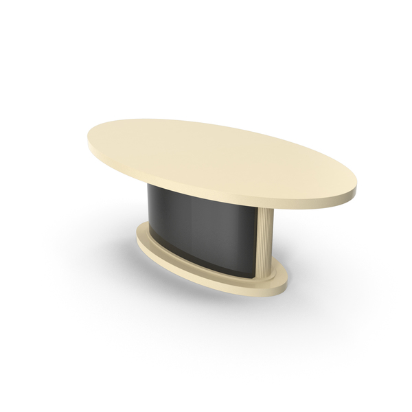 Oval Laque Dining Table PNG & PSD Images