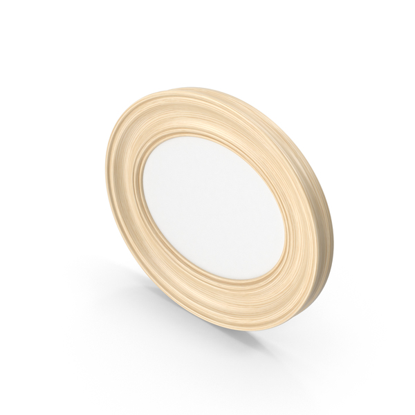 Oval Wooden Picture Frame PNG & PSD Images