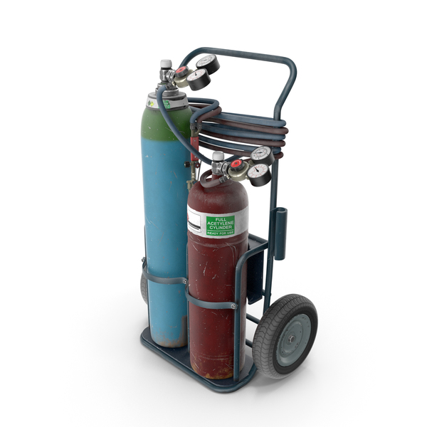 Oxygas Welding Trolley PNG & PSD Images