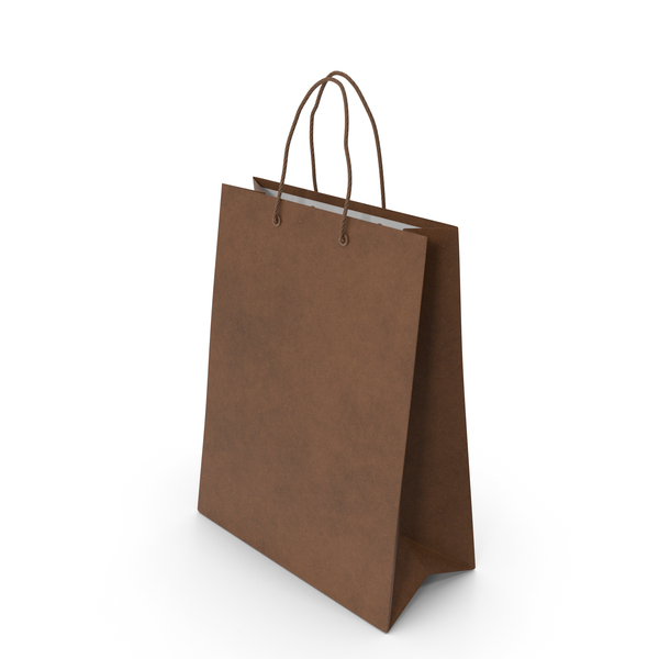 Gift Bag: Package Big Brown PNG & PSD Images
