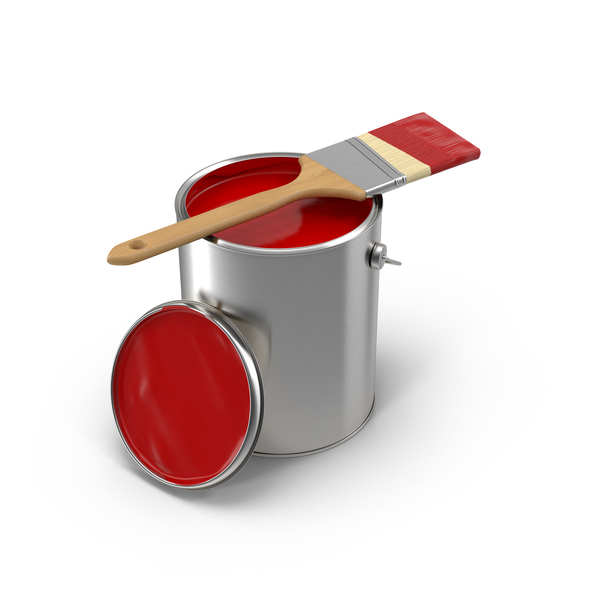 Paint Can and Brush PNG & PSD Images