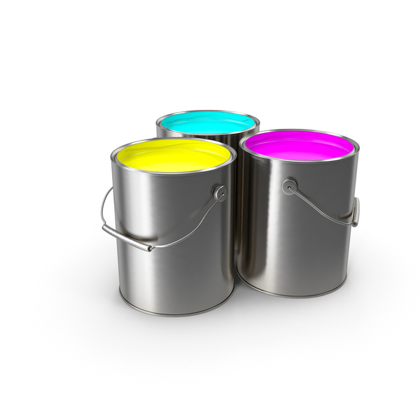 Paint Cans CMY Object