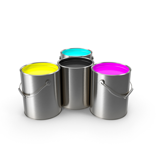 Can: Paint Cans CMYK PNG & PSD Images