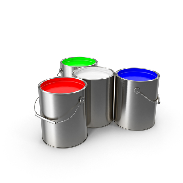 Paint Cans RGBW PNG & PSD Images