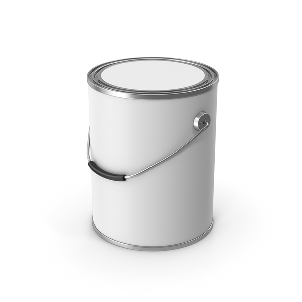 Paint Metal Bucket White PNG & PSD Images