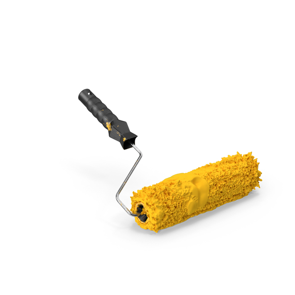 Paint Roller With Paint PNG & PSD Images